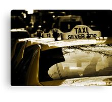 Taxi line Canvas Print