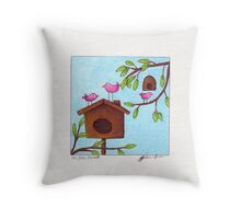 Happy hideout  Throw Pillow