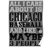 ALL I CARE ABOUT IS CHICAGO WHITE SOX BASEBALL Poster