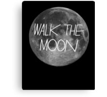 Walk The Moon- white text Canvas Print