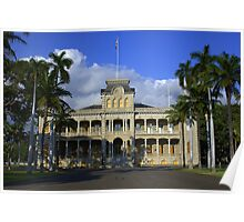 I'olani Palace, Hawaii Poster