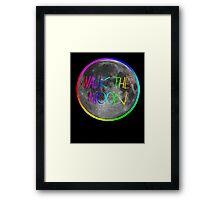 Walk The Moon- rainbow text and stroke Framed Print