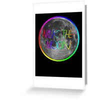 Walk The Moon- rainbow text and stroke Greeting Card