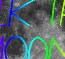 Walk The Moon- rainbow text and stroke Sticker