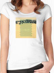 Digital Landscape #8 Women's Fitted Scoop T-Shirt