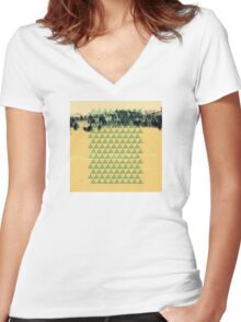 Digital Landscape #8 Women's Fitted V-Neck T-Shirt