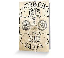 Magna Carta 800 Year Anniversary. Greeting Card