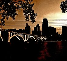 Third Ave Bridge in Copper by Tom  Reynen