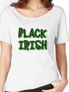 BLACK IRISH in Green and Black Women's Relaxed Fit T-Shirt