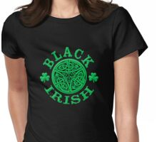 BLACK IRISH with Celtic Art Womens Fitted T-Shirt