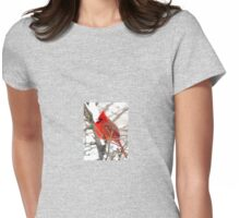 Cardinal in January Womens Fitted T-Shirt