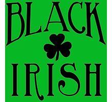 BLACK IRISH with Black Shamrock Photographic Print