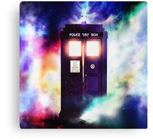 Tardis Cloud Art Painting Canvas Print