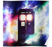 Tardis Cloud Art Painting Poster