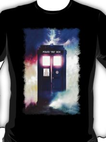 Tardis Cloud Art Painting T-Shirt