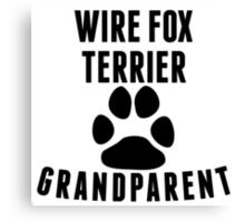 Wire Fox Terrier Grandparent Canvas Print