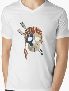 Old Bones- Woad (colour) Mens V-Neck T-Shirt