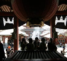 Asakusa Kannon Temple prayer by Kyra  Webb