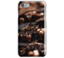 An Ant Amongst the Mushrooms iPhone Case/Skin
