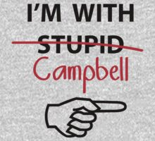 I'm with Stupid Cambell Newman T-Shirt parody One Piece - Short Sleeve