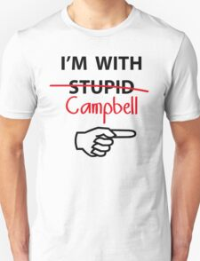 I'm with Stupid Cambell Newman T-Shirt parody Unisex T-Shirt