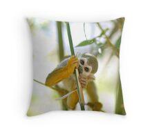 Squirrel Monkey Throw Pillow