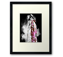 White and Pink(man) Framed Print