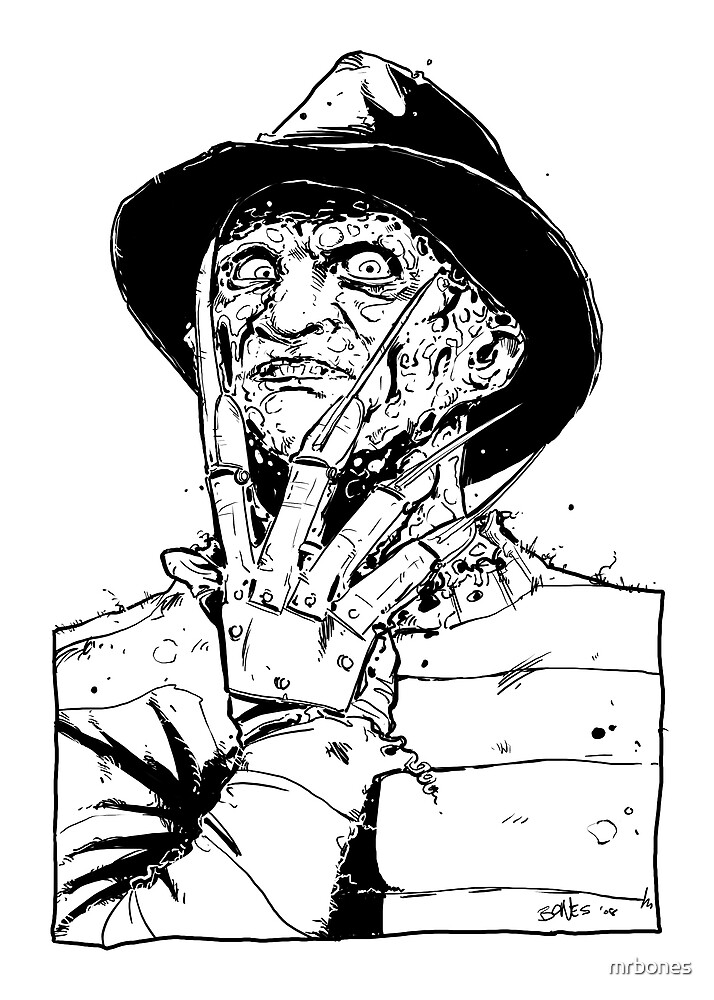 FREDDY BLACK AND WHITE by mrbones