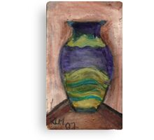 Hand-Painted Vase Canvas Print