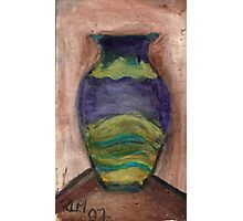 Hand-Painted Vase Photographic Print