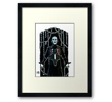 PIN HEAD COLOR Framed Print
