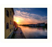 Danube Sunset Art Print