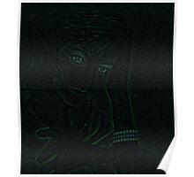 Black satin gloves Poster