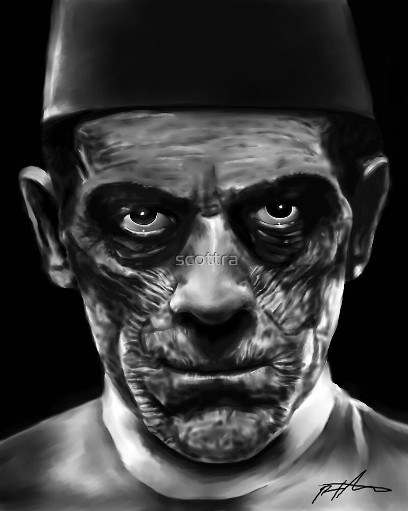 "Boris Karloff as Ardeth Bey from ""The Mummy"" by scottra"