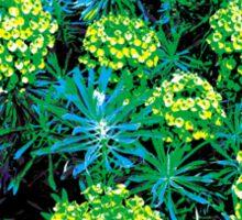 Green Flower Bush Sticker