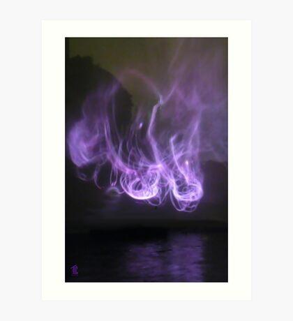 Smoke on the Water Art Print