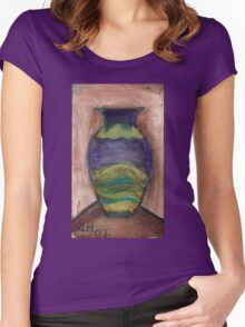 Hand-Painted Vase Women's Fitted Scoop T-Shirt