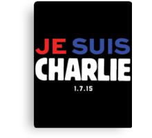 Je Suis Charlie / Flag Colors Canvas Print