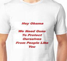 Anti-Obama Anti-Gun Control Design Unisex T-Shirt
