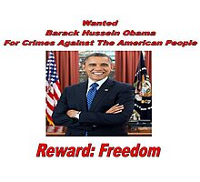 Barack Obama Wanted Poster Design Photographic Print