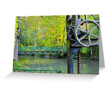 Deutsche Garden Bridge  Greeting Card