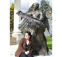 A Girl and her Guardian Angel Photographic Print