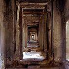 Passageway Angkor Wat  Cambodia by Jaxybelle