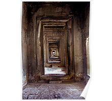 Passageway Angkor Wat  Cambodia Poster