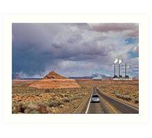 Desert storm coming... Art Print