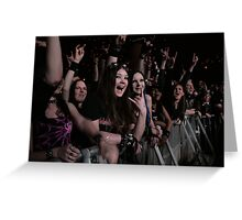 Excited audience Greeting Card