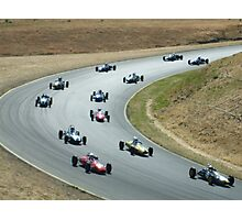 turn 6 infenion raceway/bullet race cars Photographic Print