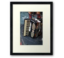Accordion at the ready Framed Print
