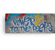 Power To the People Canvas Print