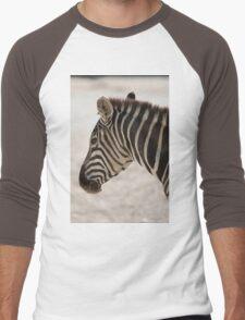 zebra at the zoo Men's Baseball ¾ T-Shirt